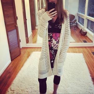Amazing Charlie and Robin knit sweater cardigan